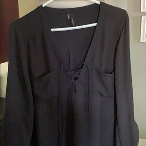 Maurices black tunic top